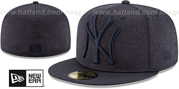 Yankees MEGATONE Navy Shadow Tech Fitted Hat by New Era
