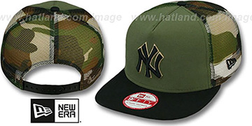 Yankees 'MESHED CAMO SNAPBACK' Army-Black Hat by New Era