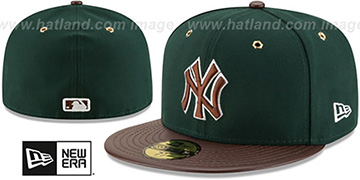Yankees 'METAL HOOK' Green-Brown Fitted Hat by New Era
