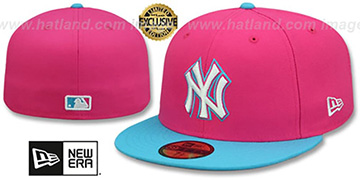 Yankees MIAMI VICE Beetroot-Blue Fitted Hat by New Era
