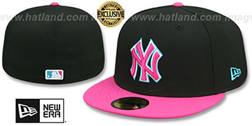Yankees MIAMI VICE Black-Beetroot Fitted Hat by New Era