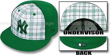 Yankees MIMIC PLAID White-Green Fitted Hat by New Era