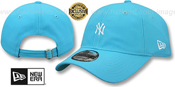 Yankees MINI BEACHIN STRAPBACK Caribbean Blue Hat by New Era
