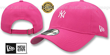 Yankees MINI BEACHIN STRAPBACK French Rose Hat by New Era