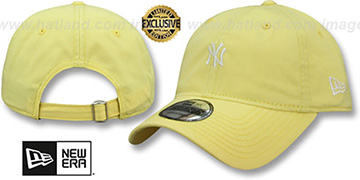 Yankees 'MINI BEACHIN STRAPBACK' Light Yellow Hat by New Era
