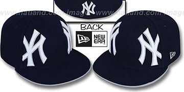 Yankees MIRROR PANELCUT Navy Fitted Hat by New Era