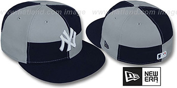 Yankees 'MIXER' Navy-Grey Fitted Hat by New Era