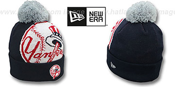 Yankees 'MLB-BIGGIE' Navy Knit Beanie Hat by New Era