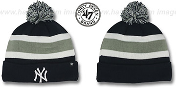 Yankees MLB BREAKAWAY Navy Knit Beanie Hat by 47 Brand