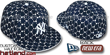 Yankees MLB FLOCKING Navy Fitted Hat by New Era