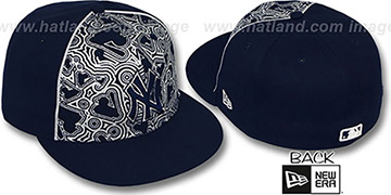Yankees MLB-FOIL Navy-Silver Fitted Hat by New Era