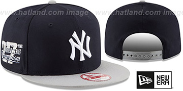 Yankees MLB STAR-TRIM SNAPBACK Navy-Grey Hat by New Era