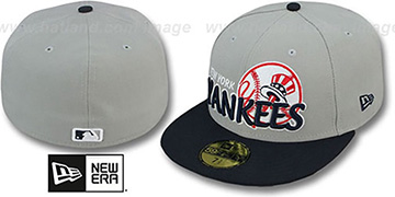 Yankees MLB-TIGHT Grey-Navy Fitted Hat by New Era