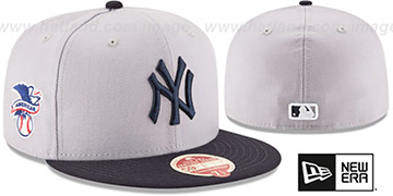 Yankees 'MLB WOOL-STANDARD' Grey-Navy Fitted Hat by New Era