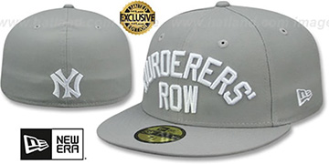 Yankees MURDERERS ROW Light Grey Fitted Hat by New Era