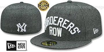 Yankees MURDERERS ROW Melton Grey Fitted Hat by New Era