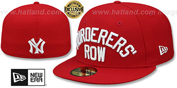 Yankees MURDERERS ROW Red Fitted Hat by New Era