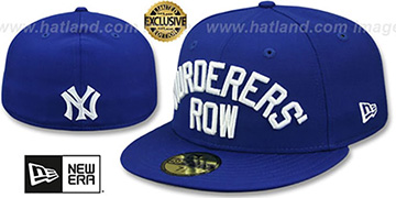 Yankees MURDERERS ROW Royal Fitted Hat by New Era