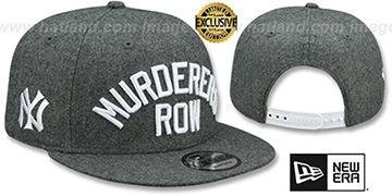 Yankees MURDERERS ROW SNAPBACK Melton Grey Hat by New Era
