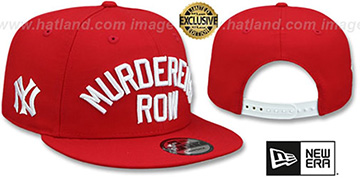 Yankees MURDERERS ROW SNAPBACK Red Hat by New Era
