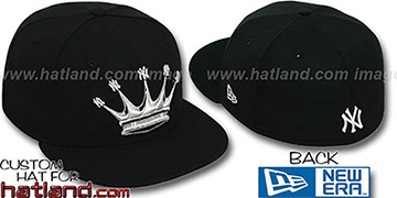Yankees NY-CROWN Black-Silver Fitted Hat by New Era