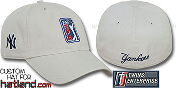 Yankees PGA FRANCHISE Hat by Twins - stone