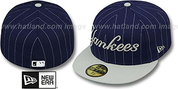 Yankees PIN-SCRIPT Navy-Grey Fitted Hat by New Era
