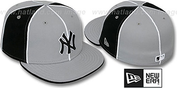 Yankees 'PINWHEEL-3' Grey-Black Fitted Hat by New Era