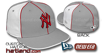 Yankees 'PINWHEEL-3' Grey-White Fitted Hat by New Era