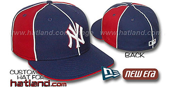 Yankees 'PINWHEEL-3' Navy-Red Fitted Hat by New Era