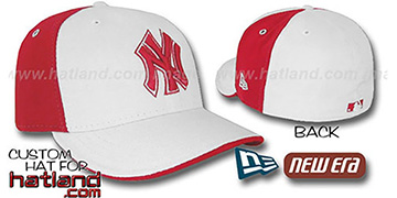 Yankees 'PINWHEEL' White-Red Fitted Hat by New Era