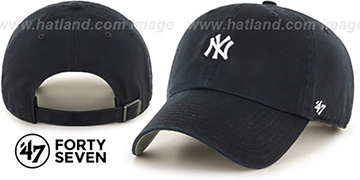 Yankees 'POLO STRAPBACK' Black Hat by Twins 47 Brand