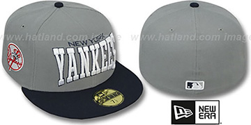 Yankees PRO-ARCH Grey-Navy Fitted Hat by New Era