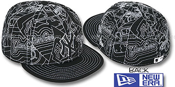 Yankees 'PUFFY REMIX' Black-White Fitted Hat by New Era