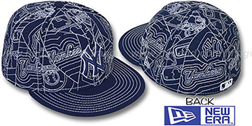 Yankees PUFFY REMIX Navy-White Fitted Hat by New Era