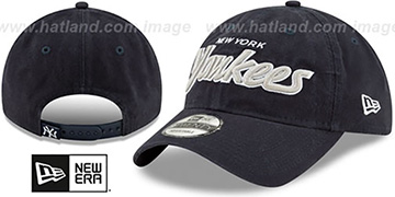 Yankees RETRO-SCRIPT SNAPBACK Navy Hat by New Era