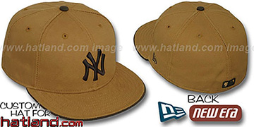 Yankees 'RUGGED CANVAS' Fitted Hat by New Era - camel