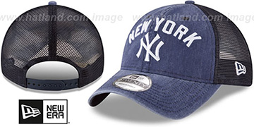 Yankees RUGGED-TEAM TRUCKER SNAPBACK Navy Hat by New Era