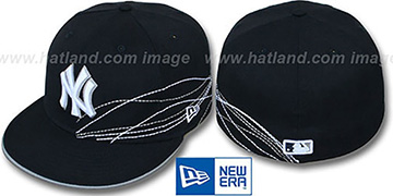 Yankees 'RUNNING JETSTREAM' Navy Fitted Hat by New Era