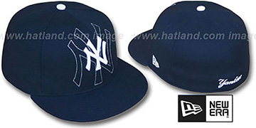 Yankees SHADOW BIG-ONE Navy Fitted Hat by New Era