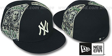 Yankees 'SHOWMEDA$' Black-Money Fitted Hat by New Era