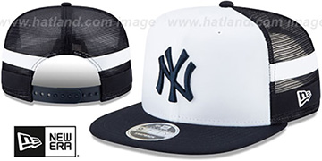 Yankees SIDE-STRIPED TRUCKER SNAPBACK Hat by New Era