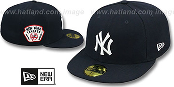 Yankees 'SIDE TEAM-PATCH' Navy Fitted Hat by New Era