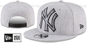 Yankees 'SILKED-XL SNAPBACK' Heather Light Grey Hat by New Era
