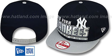Yankees SLICE-N-DICE SNAPBACK Navy-Grey Hat by New Era