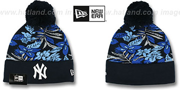 Yankees 'SNOW-TROPICS' Navy Knit Beanie Hat by New Era