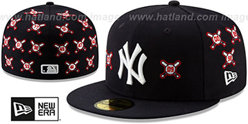 Yankees SPIKE LEE BALLS-N-BATS Navy Fitted Hat by New Era
