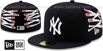 Yankees SPIKE LEE CLUSTER-BATS Navy Fitted Hat by New Era