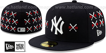 Yankees SPIKE LEE CROSSED-BATS Navy Fitted Hat by New Era