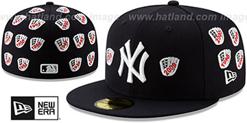 Yankees SPIKE LEE GLOVES Navy Fitted Hat by New Era